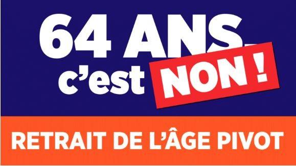 Retraites : signez et partagez la pétition contre l'age pivot à 64ans !